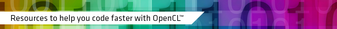Resources to help you code faster with OpenCL