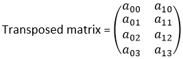 transposedmatrix